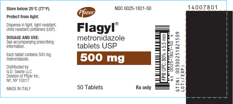 PRINCIPAL DISPLAY PANEL - 500 mg Tablet Bottle Label