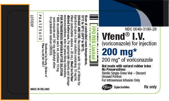 PRINCIPAL DISPLAY PANEL - 200 mg Vial Label